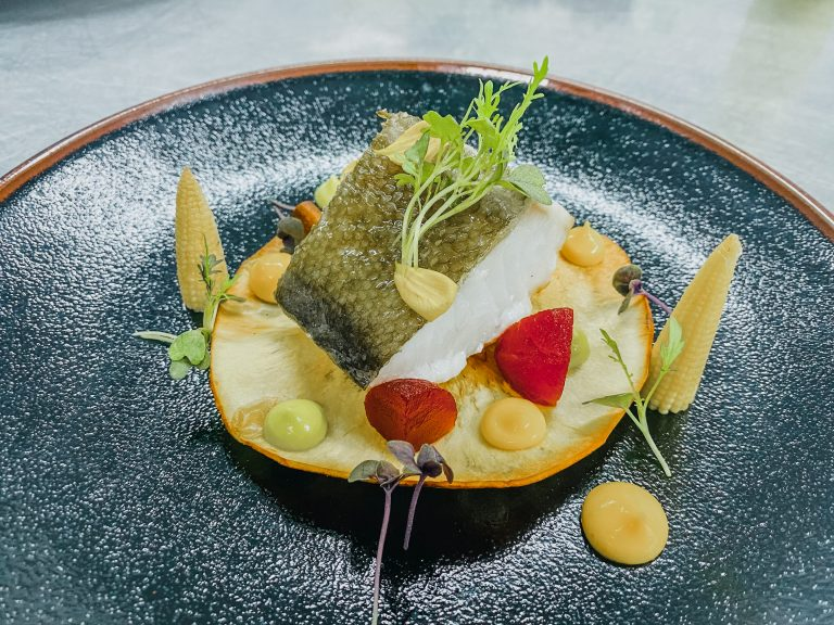 Our confit cod recipe using MSC sustainable seafood